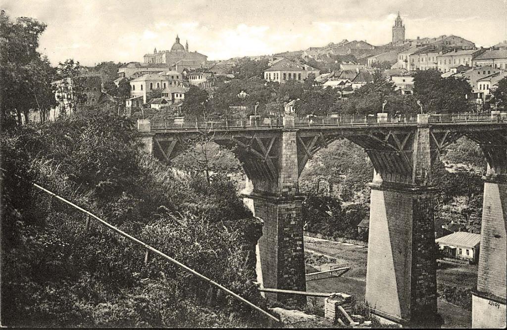 Каменец-Подольский новоплановский мост. Ретро фото.